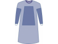 Image Of Sterile Fabric-Reinforced Aurora Surgical Gowns with Set-In Sleeve Large