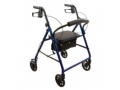 "Image Of ProBasics Steel Rollator, 6"" Wheels, Blue, 300 lb Weight Capacity"