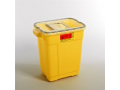 Image Of Chemotherapy Sharps Container 2-Piece 185H X 1775W X 1175D Inch 9 Gallon Yellow Base Sliding Lid
