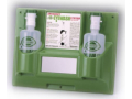 Image Of Eyewash Station Wall Mount Dual 32 oz Empty Bottles