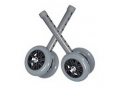 "Image Of 5"" Bariatric Walker Wheels with Rear Glides"