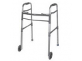 Image Of Drive Deluxe Adult Folding Patient Walker, Two Button, with 5
