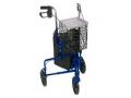Image Of 3 Wheel Aluminum Rollator, Blue