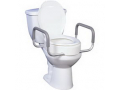 """Image Of Premium Raised Toilet Seat with Removable Arms 17"""" Seat, White"""
