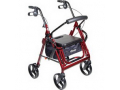 """Image Of Duet Rollator/Transport Chair Burgundy, 26"""" x 25-1/2"""" x 37"""" , 8"""" Casters"""