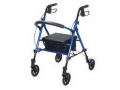 Image Of Universal Seat Height, Aluminum Rollator, Blue