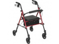 """Image Of 4-Wheel Rollator Red, 6"""" Casters, Aluminum"""