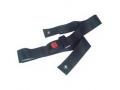 "Image Of Wheelchair Seat Belt with Auto Style Closure 48"", Black Nylon"