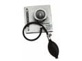 Image Of Aneroid Sphygmomanometer DuraShock Silver Series DS45 Pocket Style Hand Held 2-Tube Large Adult Size Arm