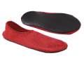Image Of Fall Management Slippers Adult Large Red Below the Ankle