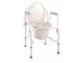 Image Of Knocked Down Commode Chair drive Drop Arm Steel Frame Back Bar