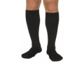 Image Of Diabetic Compression Socks Over the Calf Small Black Closed Toe