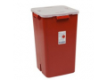 Image Of Multi-purpose Sharps Container Sharps-A-Gator 1-Piece 22H X 14W X 14D Inch 19 Gallon Red Base Vertical Entry Lid