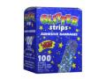 Image Of Adhesive Strip Stat Strip 3/4 X 3 Inch Plastic Rectangle Kid Design Glitter Sterile