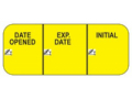 Image Of Pre-Printed / Write On Label Indeed Communication Label Date Opened Exp Date Initial Yellow 5/8 X 1-1/2 Inch