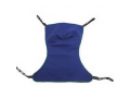 Image Of Reliant Full Body Solid Fabric Sling without Commode Opening, Large, Green, Polyester/Nylon