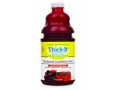Image Of Thickened Beverage Thick-It AquaCareH2O 64 oz Bottle Cranberry Flavor Ready to Use Honey Consistency