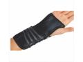 Image Of Wrist Splint Cinch-Lock Suede / Flannel Left Hand Black Medium