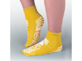 Image Of Slipper Socks Pillow Paws Risk Alert Terries 2 X-Large Yellow Ankle High