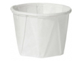 Image Of Souffle Cup Solo 05 oz White Paper Disposable
