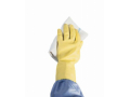 Image Of Utility Glove Medium Flock Lined Latex Yellow 12 Inch Straight Cuff NonSterile