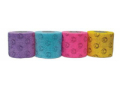 Image Of Cohesive Bandage CoFlex NL 1 Inch X 5 Yard Standard Compression Self-adherent Closure Smiley Face on Neon Pink / Yellow / Lavender / Light Blue NonSterile