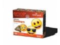 Image Of Adhesive Strip emoji 3/4 X 3 Inch Plastic Rectangle Kid Design Emojis Sterile