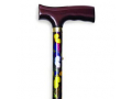 Image Of Folding Travel Cane with Fritz Handle, Butterfly
