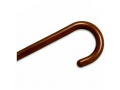 Image Of Wood Cane With Tourist Handle - Walnut Stain