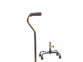 Image Of Small Base Quad Cane - Bronze