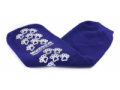 Image Of Slipper Socks McKesson Terries Bariatric Extra Wide Royal Blue Above the Ankle