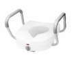 Image Of Raised Toilet Seat with Arms E-Z Lock 5 Inch White 300 lbs