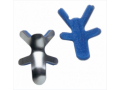 Image Of Finger Splint PROCARE Frog Style Aluminum / Foam Left or Right Hand Silver / Blue Large