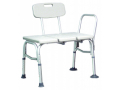 Image Of Bath Transfer Bench Lumex Maxi-Drain 18-1/4 to 22-1/4 Inch Height Range 350 lbs Weight Capacity Side Arm