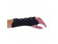 Image Of Wrist Splint PROCARE Contoured Cotton / Flannel Right Hand Black Small