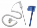 Image Of Probe and Well Kit SureTemp Oral Blue Well 4 Foot Oral Reusable Probe NonSterile SureTemp 690 / 692 Thermometers