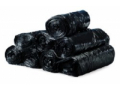 Image Of Trash Bag Colonial Bag Extra Heavy Duty 45 gal Black HDPE 16 Mic 40 X 48 Inch X-Seal Bottom Twist Tie Coreless Roll