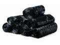 Image Of Trash Bag Colonial Bag Extra Heavy Duty 45 gal Black HDPE 16 Mic 40 X 48 Inch X-Seal Bottom Twist Tie Coreless Roll