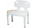 Image Of Bath Transfer Bench Carex 17-1/2 to 22-1/2 Inch Height Range 400 lbs Weight Capacity Without Arms