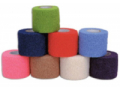 Image Of Cohesive Bandage CoFlex 3 Inch X 5 Yard Standard Compression Self-adherent Closure Teal / Blue / White / Purple / Red / Green NonSterile