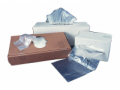 Image Of Trash Bag Colonial Bag Light Duty 15 gal Clear HDPE 6 Mic 24 X 33 Inch X-Seal Bottom Twist Tie Flat Pack