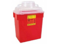 Image Of Multi-purpose Sharps Container 1-Piece 175H X 125W X 85D Inch 6 Gallon Red Base Funnel Lid