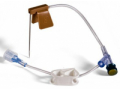 Image Of Huber Infusion Set Bard 22 Gauge 1 Inch 8 Inch Tubing Injection Port