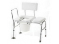 Image Of Vinyl Padded Bathtub Transfer Bench w/Cut Out,Pail