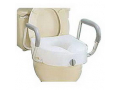 Image Of E-Z Lock Raised Toilet Seat With Arms