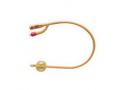 Image Of Gold 2-Way Silicone-Coated Foley Catheter 24 Fr 30 cc