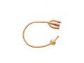 Image Of Gold 3-Way Silicone-Coated Foley Catheter 16 Fr 30 cc