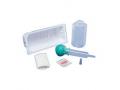 Image Of Irrigation Tray with Bulb Syringe 60cc Bulb Syringe, 500cc Graduate, Alcohol Wipe, Waterproof Drape
