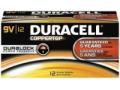 Image Of Alkaline Battery Duracell Coppertop 9V Cell 9V Disposable 12 Pack