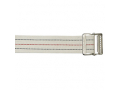 Image Of Cotton Gait Belt, Standard Webbing, Metal Buckle, Pinstripe